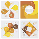 Collection of Design clean number banners template Stock Images