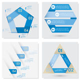 Collection of Design clean number banners template Royalty Free Stock Photo