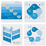 Collection of Design clean number banners template Stock Image
