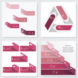 Collection of Design clean number banners template Stock Photo