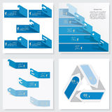 Collection of Design clean number banners template Royalty Free Stock Photography