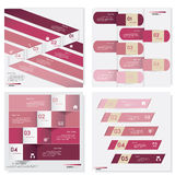 Collection of Design clean number banners template Royalty Free Stock Photos
