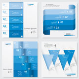 Collection of Design clean number banners template Royalty Free Stock Image