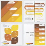 Collection of Design clean number banners template Royalty Free Stock Images