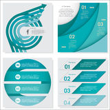 Collection of Design clean number banners template. Vector. Stock Photo