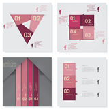 Collection of Design clean number banners template. Vector. Stock Image