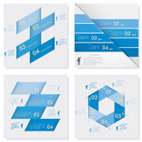 Collection of Design clean number banners template. Vector. Royalty Free Stock Photo