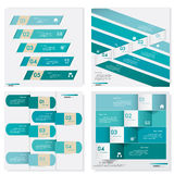 Collection of Design clean number banners template. Vector. Stock Photography