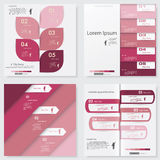 Collection of Design clean number banners template. Vector. Stock Images