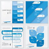 Collection of Design clean number banners template. Vector. Royalty Free Stock Photos