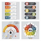 Collection of 4 design colorful presentation templates. Vector Background. Royalty Free Stock Photo
