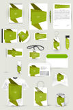 Collection of design elements for corporate identity business, advertising or visualization. Royalty Free Stock Photos