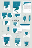Collection of design elements for corporate identity business, advertising or visualization. Stock Photos