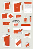 Collection of design elements for corporate identity business, advertising or visualization. Stock Images