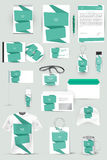 Collection of design elements for corporate identity business, advertising or visualization. Royalty Free Stock Photo