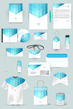 Collection of design elements for corporate identity business, advertising or visualization. Royalty Free Stock Image