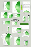 Collection of design elements for corporate identity business, advertising or visualization. Royalty Free Stock Photography