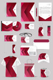 Collection of design elements for corporate identity business, advertising or visualization. Stock Photography