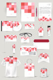 Collection of design elements for corporate identity business, advertising or visualization. Royalty Free Stock Images