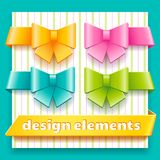 Collection of design elements for decoration child Royalty Free Stock Photos