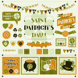 Collection design elements of Saint Patrick's Day Royalty Free Stock Photo
