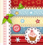 Collection design elements for scrapbook. royalty free illustration