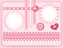 Collection design elements for scrapbook. Stock Image