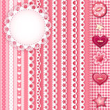 Collection design elements for scrapbook. Royalty Free Stock Image