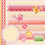 Collection design elements for scrapbook. Stock Images