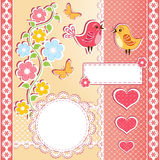 Collection design elements for scrapbook. Royalty Free Stock Photos