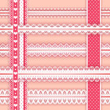 Collection design elements for scrapbook. Borders. Stock Photo