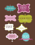 Collection of design retro frames. Vector Royalty Free Stock Images