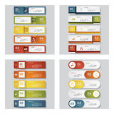 Collection of 4 design template/graphic layout. Vector. Collection of 4 design template/graphic or website layout. Vector Background. For your idea and Royalty Free Stock Photo