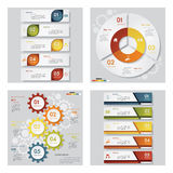 Collection of 4 design template graphic layout. Vector. Collection of 4 design template graphic or website layout. Vector Background. For your idea and Stock Photography