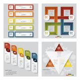 Collection of 4 design template/graphic layout. Vector. Collection of 4 design template/graphic or website layout. Vector Background. For your idea and Stock Photography