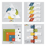 Collection of 4 design template graphic layout. Vector. Collection of 4 design template/graphic or website layout. Vector Background. For your idea and Stock Image