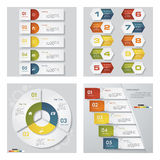 Collection of 4 design template graphic layout. Vector. Stock Image
