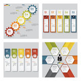 Collection of 4 design template graphic layout. Vector. Collection of 4 design template graphic or website layout. Vector Background. For your idea and Royalty Free Stock Photography