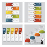 Collection of 4 design template/graphic layout. Vector. Royalty Free Stock Photography