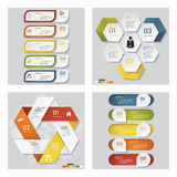 Collection of 4 design template graphic layout. Vector. Collection of 4 design template graphic or website layout. Vector Background. For your idea and Stock Photo