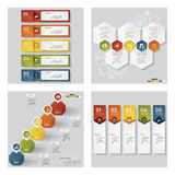 Collection of 4 design template/graphic layout. Vector. Stock Photography
