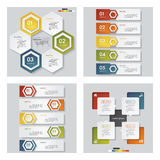 Collection of 4 design template/graphic layout. Vector. Collection of 4 design template/graphic or website layout. Vector Background. For your idea and Stock Photos