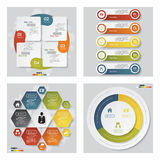 Collection of 4 design template/graphic layout. Vector. Stock Image