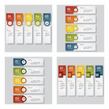 Collection of 4 design template/graphic layout. Vector. Royalty Free Stock Photo