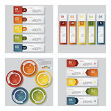 Collection of 4 design template/graphic layout. Vector. Stock Photo