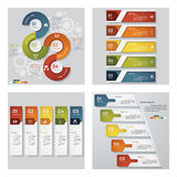 Collection of 4 design template/graphic layout. Vector. Royalty Free Stock Photos