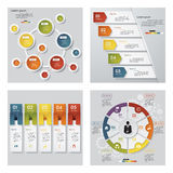 Collection of 4 design template/graphic layout. Vector. Royalty Free Stock Image