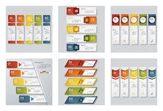 Collection of 6 design template/graphic or website layout. Vector Background. Stock Photo