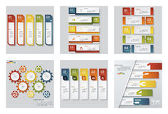 Collection of 6 design template/graphic or website layout. Vector Background. Stock Photos