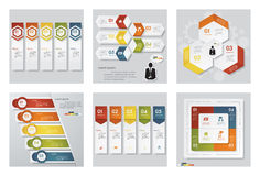 Collection of 6 design template/graphic or website layout. Vector Background. Royalty Free Stock Image